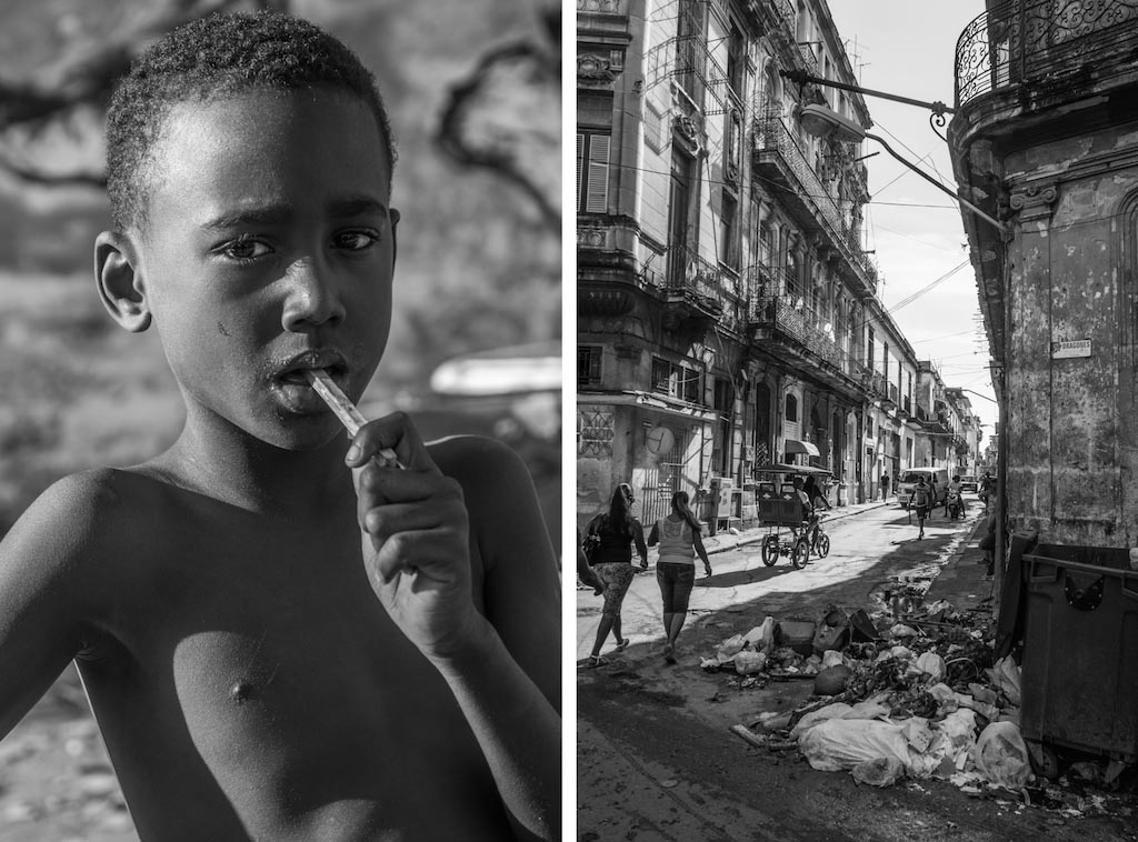2. Cuban boy w popsicle and Dirty streets of Havana