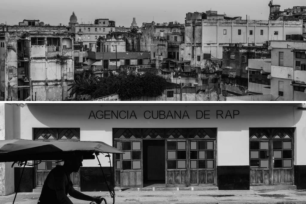 3. Havana buildings skyline and Cuban agencia de rap