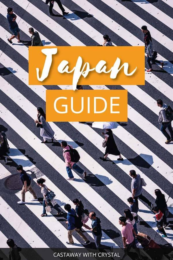 "Image of Tokyo in Japan with text olay: ""Japan Guide"""