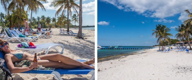 3. Maria la Gorda, beach sunbake. Things to do in Cuba, how to do Cuba on a Budget, one month itinerary for Cuba