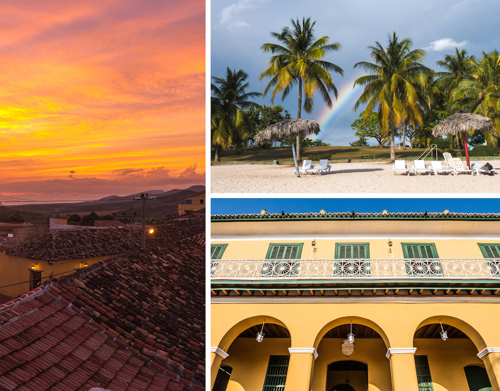 7. Trinidad, Playa Ancon, sunset, buildings, architectore, colonial. Things to do in Cuba, how to do Cuba on a Budget, one month itinerary for Cuba