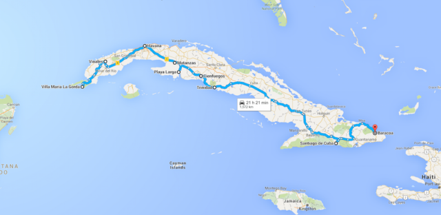 Cuba Map. Things to do in Cuba, how to do Cuba on a Budget, one month itinerary for Cuba