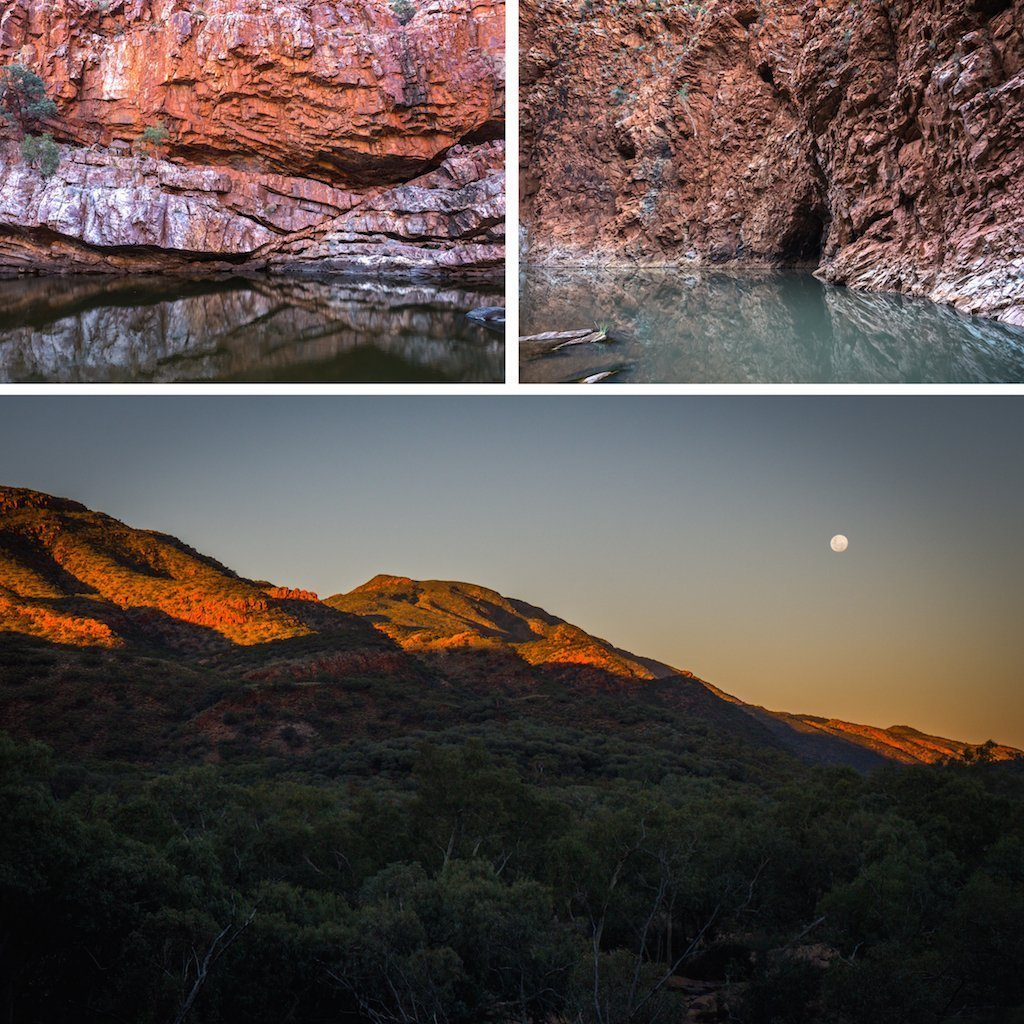 11. MacDonnell Ranges water red rock