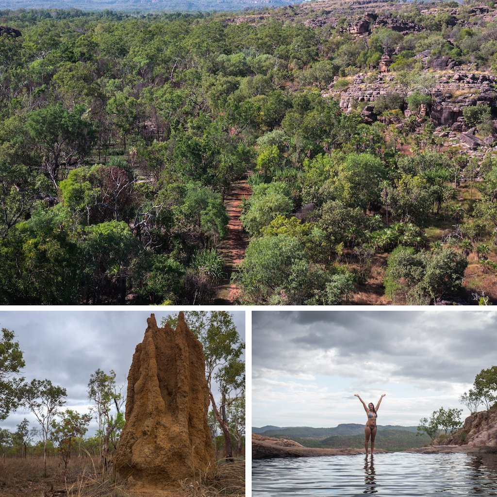 4. Kakadu viewpoint termite mound and infinity pools at gunlom falls