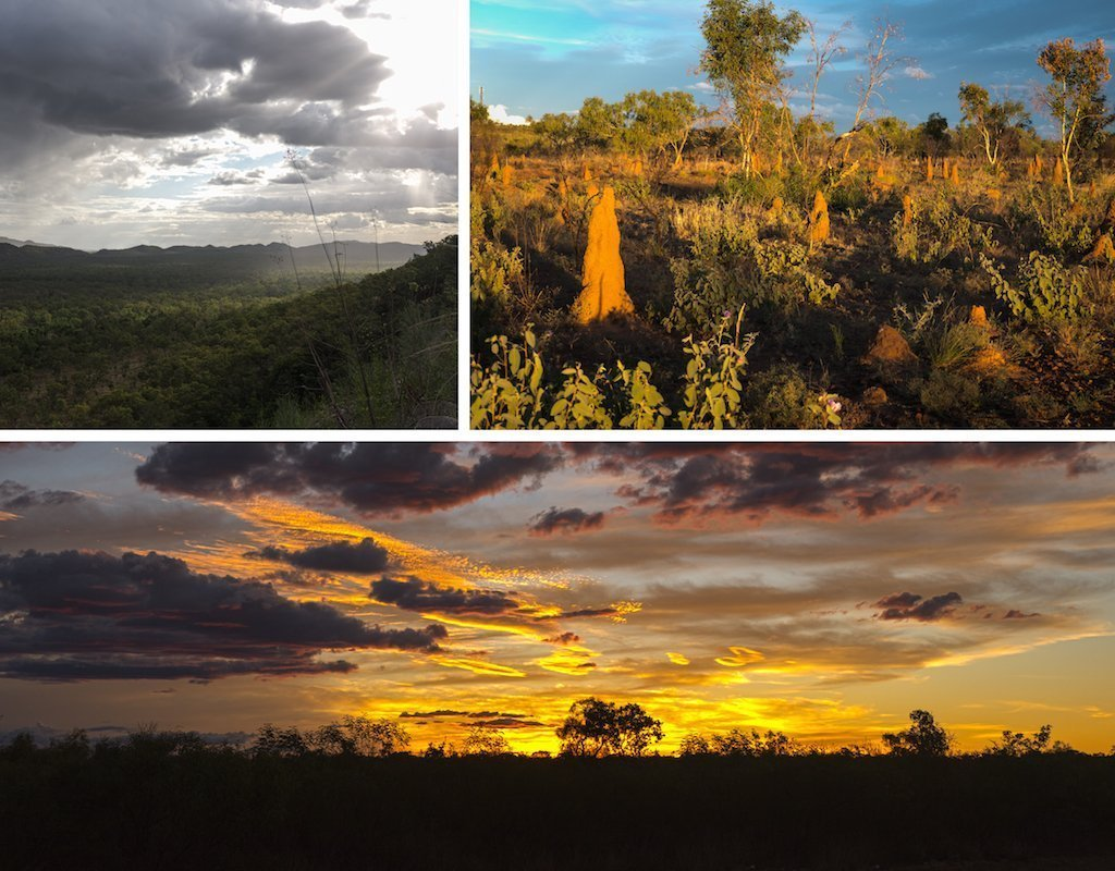 5. Gunlom falls termite mounds and epic sunset