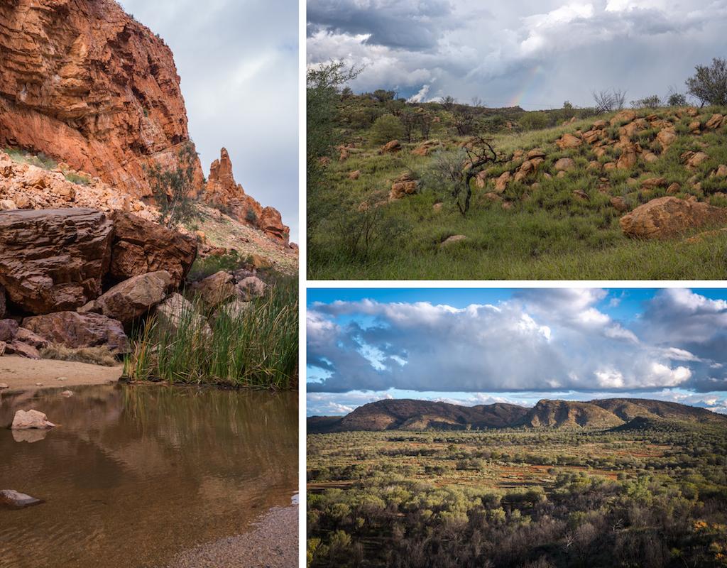 Alice Springs Simpsons Gap scenery red rock