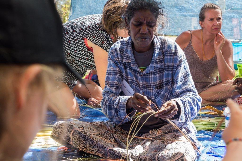 Barunga Festival Basket Weaving