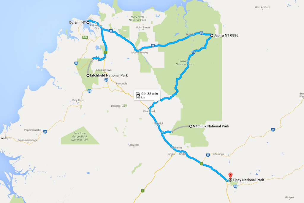 Darwin and Surrounds Map