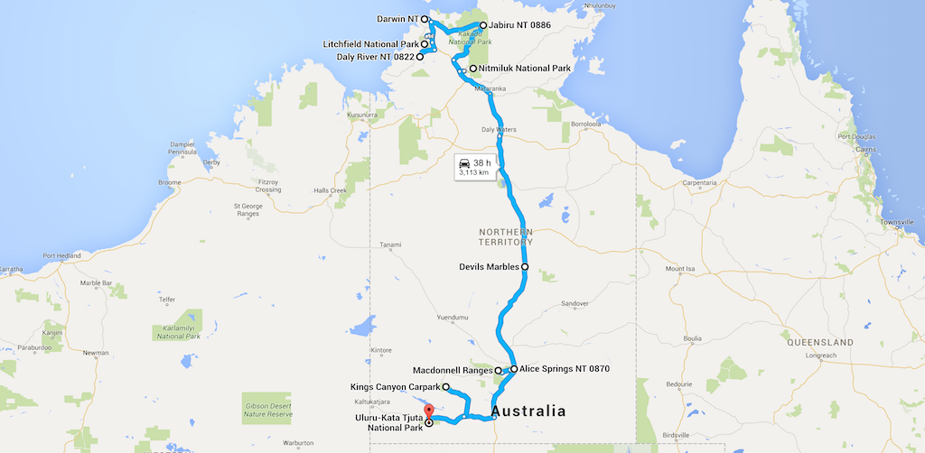 Guide to Northern Territory Map