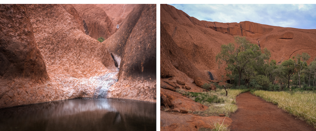 The changing colours of Uluru Ayres Rock Northern Territory 2