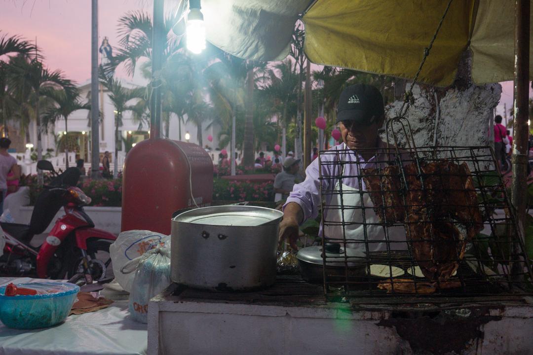 Street food on Isla Mujeres