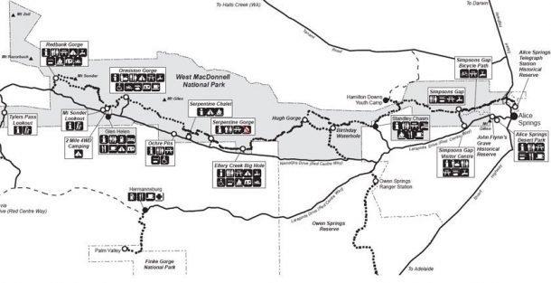 Larapinta Trail Map pdf