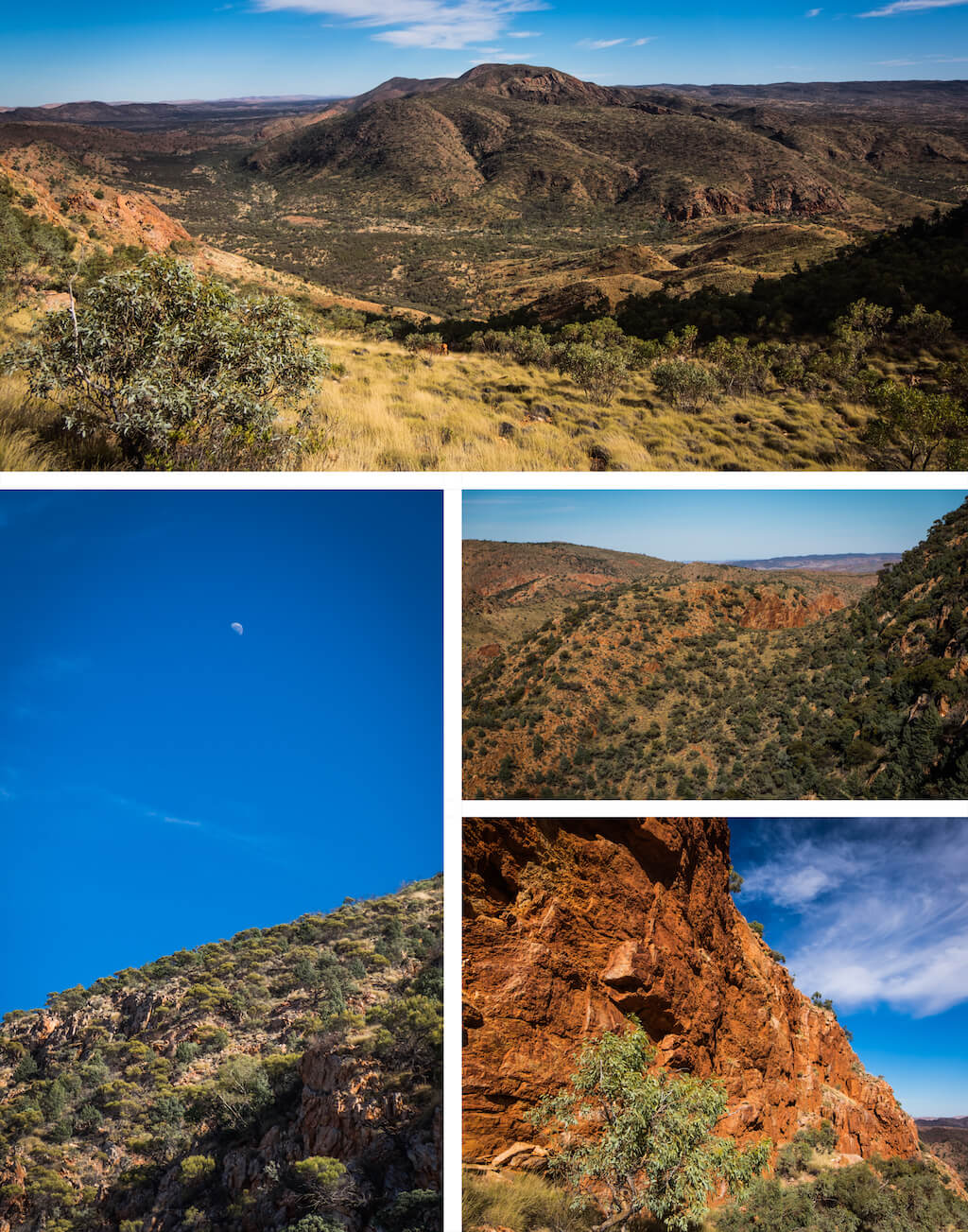 Coming down from Brinkly Bluff - Beautiful photography taken while trekking the Larapinta Trail in Central Australia
