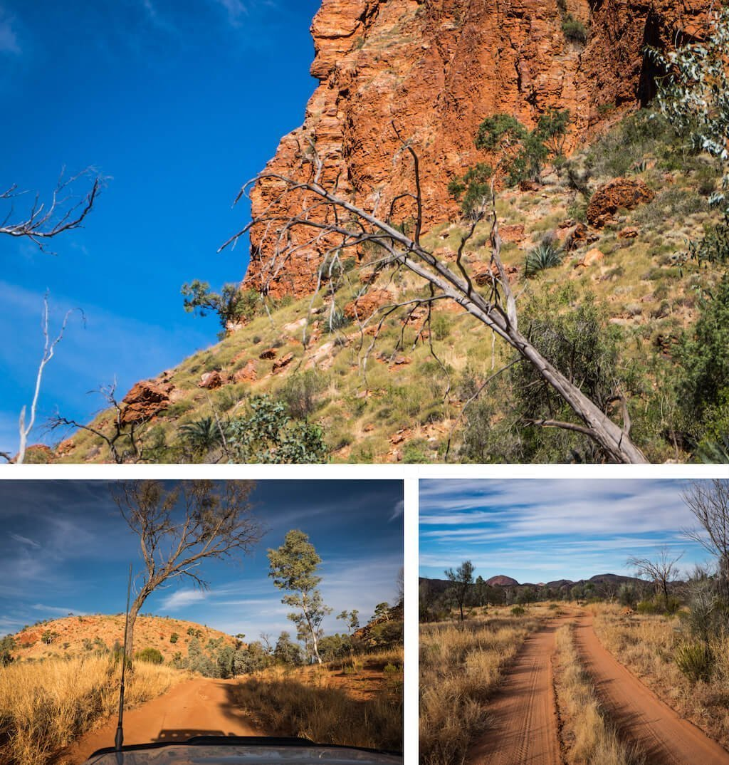 Hugh Gorge and red dirt - Beautiful photography taken while trekking the Larapinta Trail in Central Australia