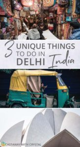 3 Unique Things to do in Delhi India | Would you take a rickshaw tour in India? | Visit the Lotus Temple in Delhi | The 3 most popular markets and bazaars in Delhi | Unique experiences in Delhi #Delhi #India