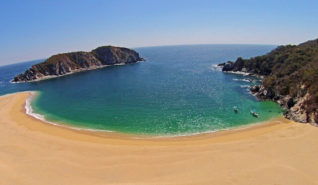 Bahia Cacaluta one of the top 10 best beaches in Oaxaca