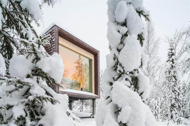 """Arctic Treehouse Finland - Dreaming of a treehouse holiday in Europe? Want to get in touch with your childlike wonder again? This is a seriously impressive list of the most romantic treehouse hotels in Europe to help you plan your next """"glamping"""" luxury getaway"""