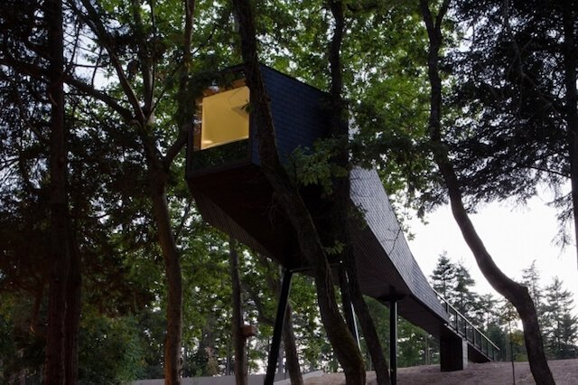 """Pedras Salgadas Spa & Nature Park Portugal - Dreaming of a treehouse holiday in Europe? Want to get in touch with your childlike wonder again? This is a seriously impressive list of the most romantic treehouse hotels in Europe to help you plan your next """"glamping"""" luxury getaway"""