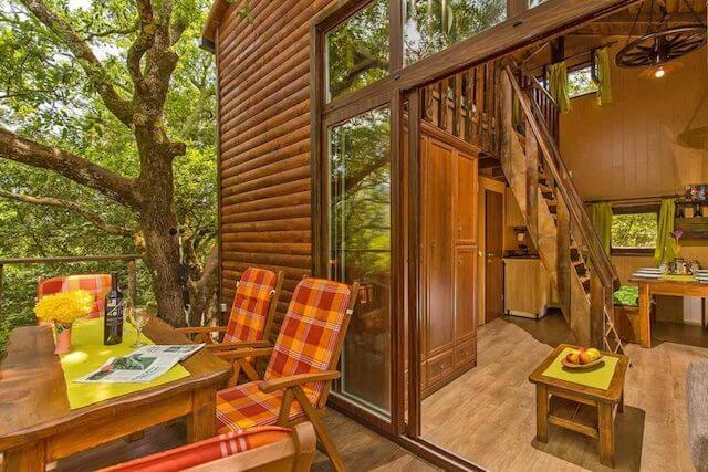 """Treehouse at Cadmos Village Holiday Home Croatia - Dreaming of a treehouse holiday in Europe? Want to get in touch with your childlike wonder again? This is a seriously impressive list of the most romantic treehouse hotels in Europe to help you plan your next """"glamping"""" luxury getaway"""
