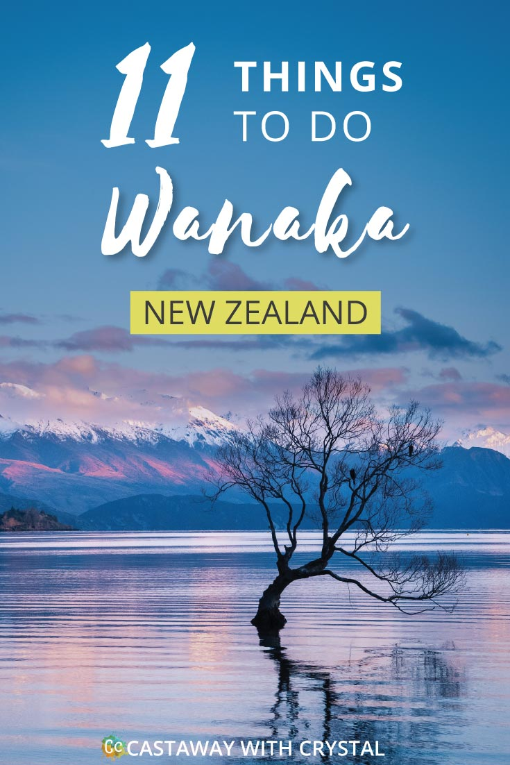 Wanaka Lake with text: Free things to do in Wanaka New Zealand NZ