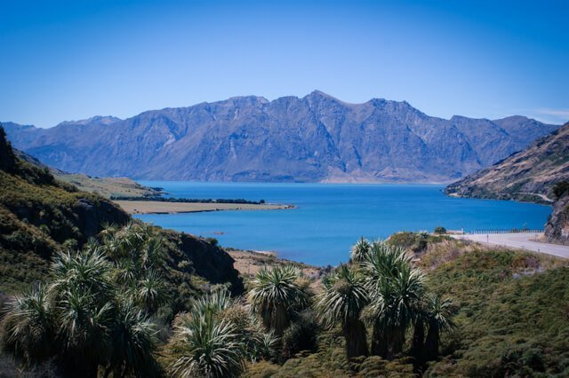 Lake Hawea - Free things to do in New Zealand - Spectacular FREE things to do in Wanaka, New Zealand! | Want to do something different? Need to save money? Hiking in Wanaka is incredible, and there are some pristine watering holes, places to climb and even a famous tree to check out!