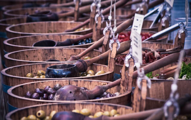 Olives at Borough Market - Free Things to do in London UK