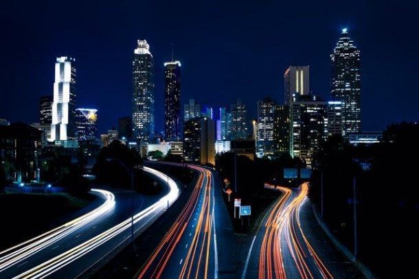 Atlanta skyline at night for Free things to do in Atlanta USA
