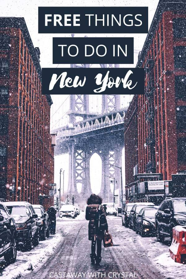 "Image of New York City with text olay: ""Offbeat Free things to do in New York City"""
