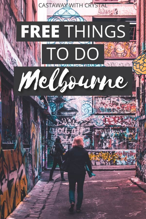 "Image of Melbourne City with text olay: ""Free Things to do in Melbourne Australia"""