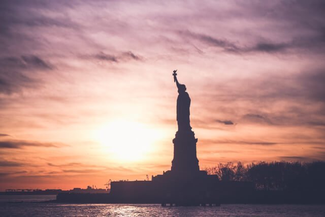 Statue of Liberty at sunset - Free Things to do in New York City