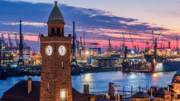 Harbor with Ferry 62 - Free things to do in Hamburg Germany