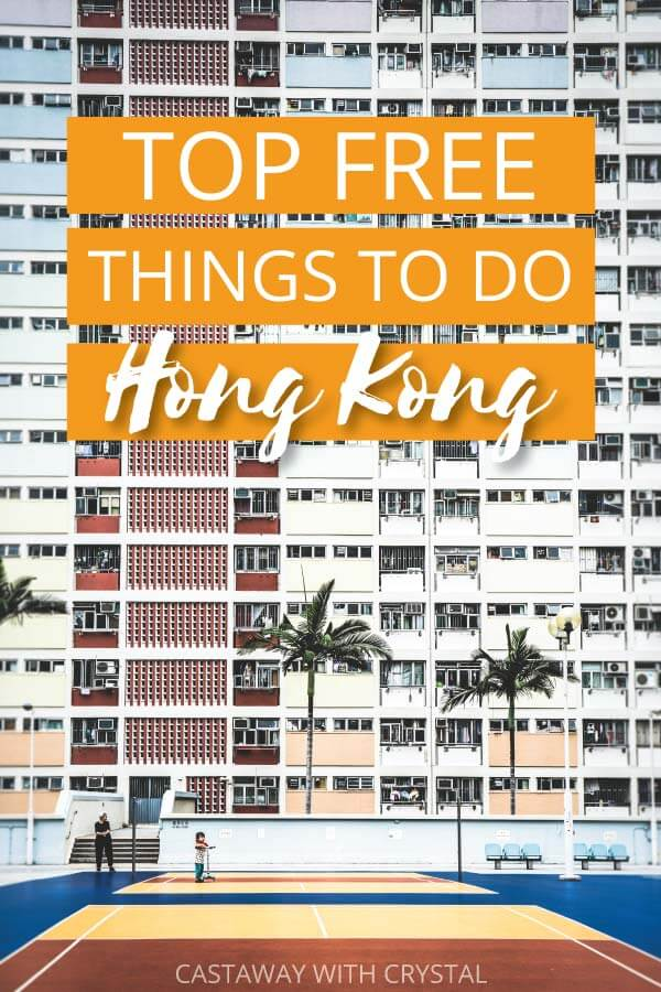 "Image of Hong Kong city with text olay: ""Top Free Things to do in hong Kong"""