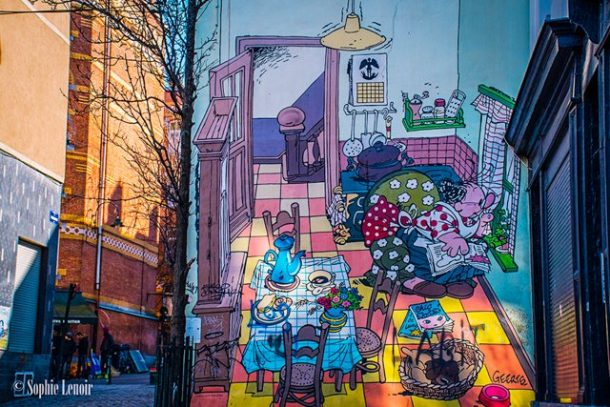Cartoon Wall - Fun Free Things to do in Brussels, Belgium