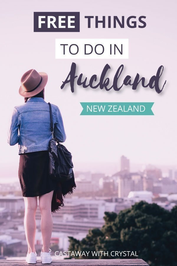 "Image of girl in Auckland with text olay: ""Free Things to do in Auckland New Zealand"""
