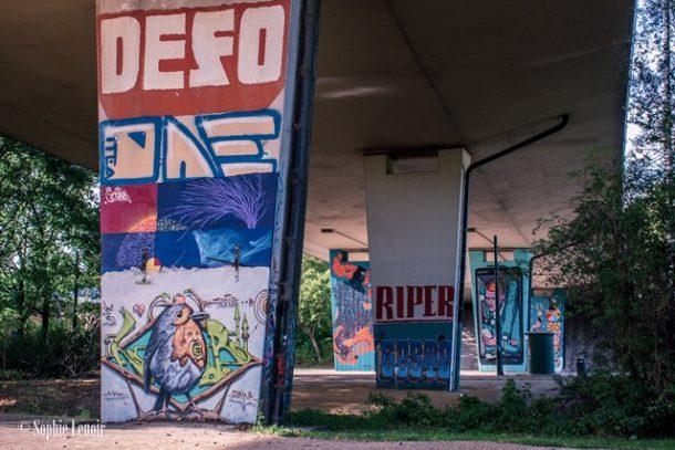 Graffiti under a bridge - Fun Free Things to do in Brussels, Belgium