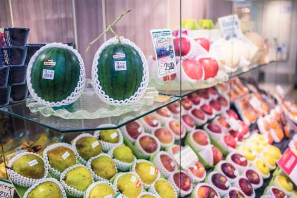Expensive Fruit in department store for Free Things to do in Japan