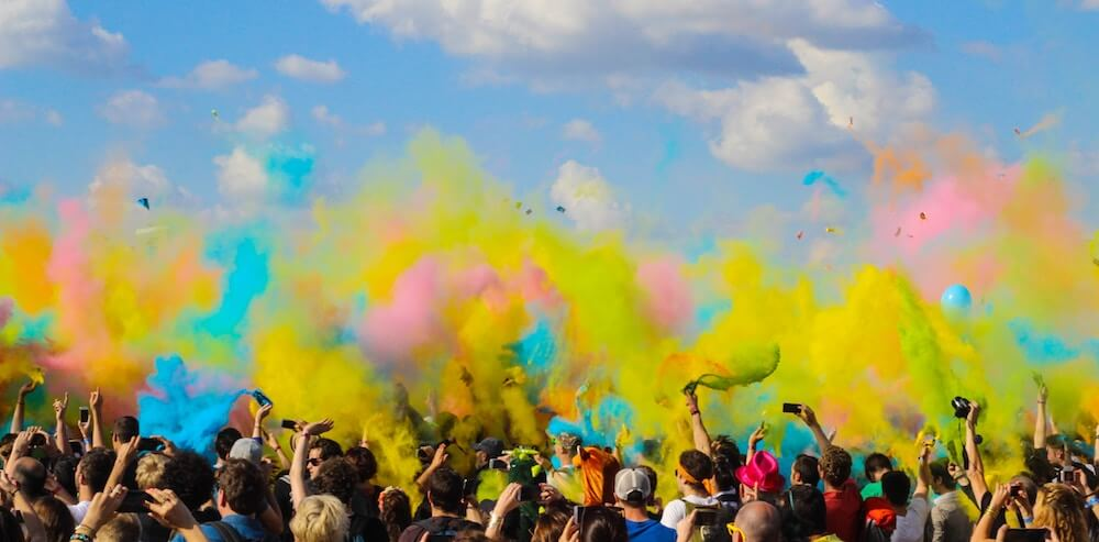 Colour dye in the air - How to save money for long-term travel