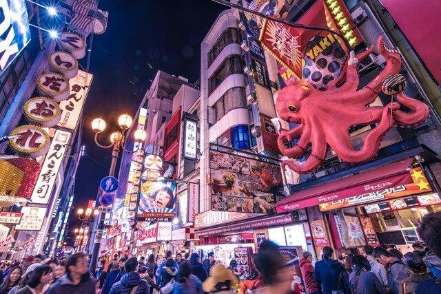 Osaka Dotonori for Free Things to do in Japan