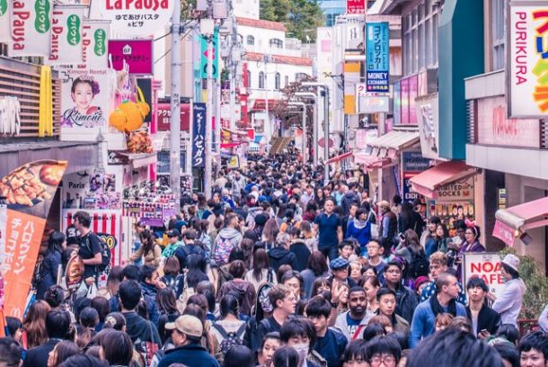 Busy Tokyo Street for Free Things to do in Japan