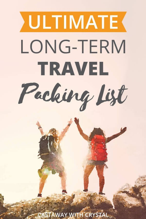 Wondering what to pack for long-term travel? This is the ONLY long-term travel packing list you'll ever need! We have seven years of travel under our belt so we have thought of everything, so you don't have to. With Free Downloadable and Printable Travel Checklist in PDF! #Checklist #Packing #Budget #CwC #travel #Printable #backpacking #products #shop #list