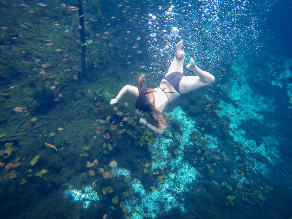 Snorkeling at Cenote Car Wash for Best Cenotes in Tulum