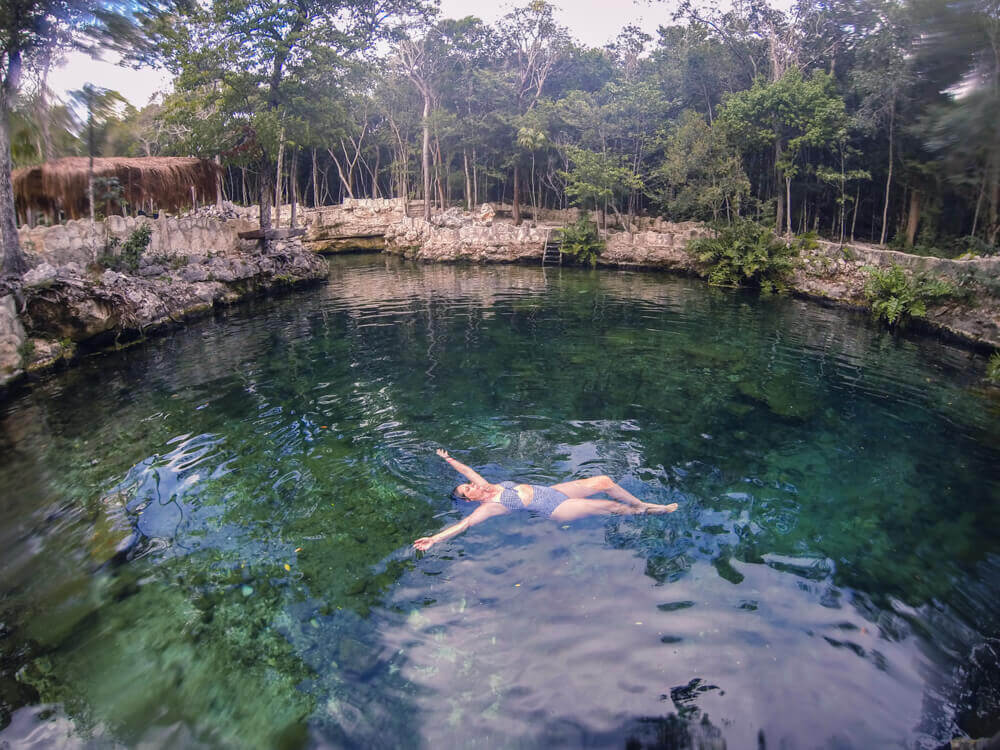 Snorkeling at Cenote Casa Tortuga for Best Cenotes in Tulum for diving