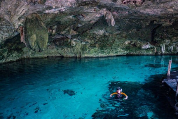 Snorkeling at Cenote Dos Ojos Caves for Best Cenotes in Tulum