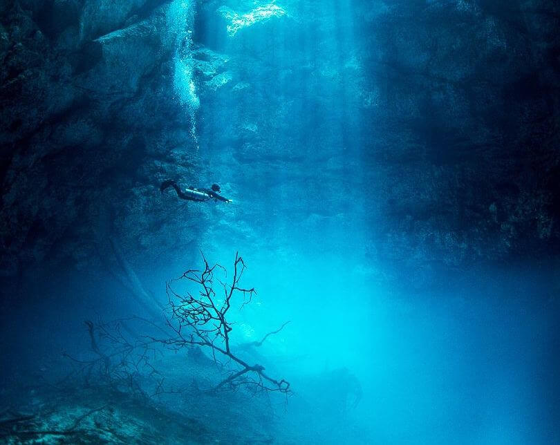 Diving at Cenote El Pit for Best Cenotes in Tulum for diving