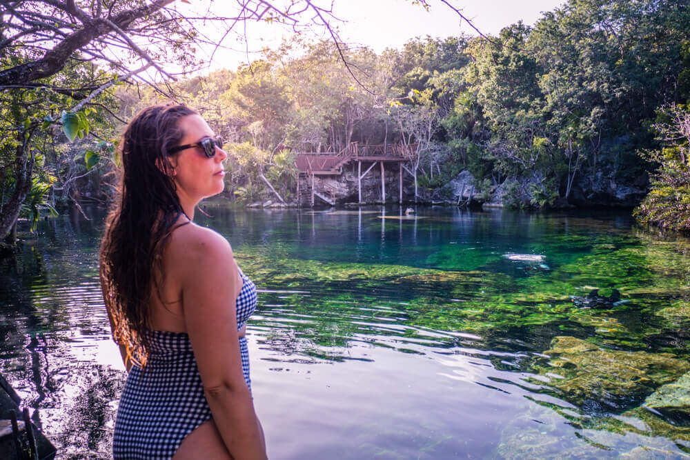 Swimming at Cenote Ponderosa for Best Cenotes in Tulum