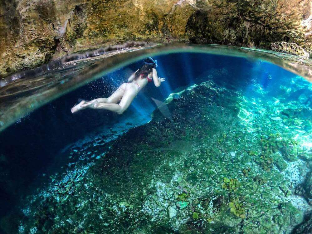 Snorkeling at Gran Cenote for Best Cenotes in Tulum