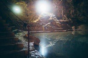 Suytun Cenote stairs - Best Valladolid Cenotes