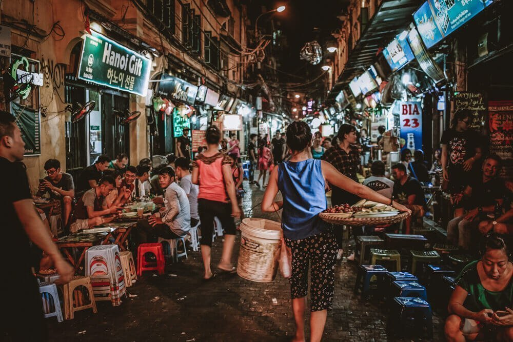 Bustling Hanoi night market for Free things to do in Hanoi, Vietnam