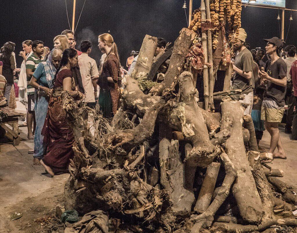 A Hoilika Dahan Pyre - How to spend Holi in Varanasi