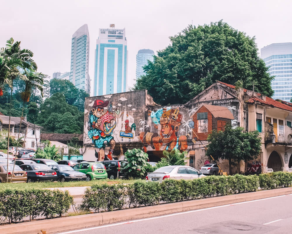 Street Art in KL for 3 day itinerary Kuala Lumpur, Malaysia and Kuala Lumpur 1 day itinerary
